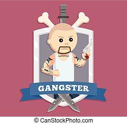 bald gangster in emblem