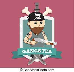 Fat Gangster in emblem