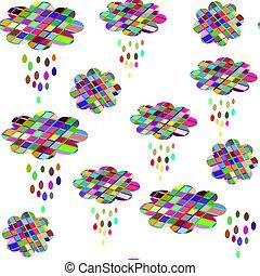 Cute clouds seamless pattern It is located in swatch menu,...