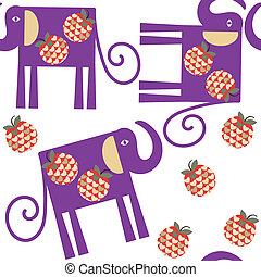 Elephant seamless pattern, vector It is located in swatch...