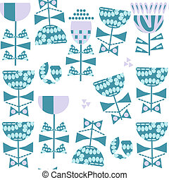 Floral seamless vector pattern. It is located in swatch menu