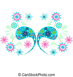 Vivid floral ornament, vector vivid illustration