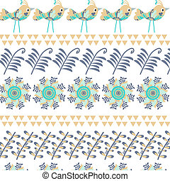 Floral vector background with birds  for design