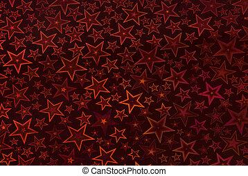 Starry night background - in dark red