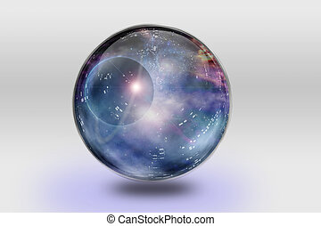 Space Contained - Space is contained inside of glass sphere