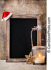 de madera, vendimia, decoración, navidad, rústico, Plano de...