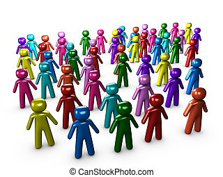 Multicultural - 3d image, Conceptual multicultural