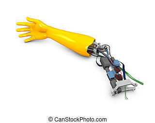 Robotic arm - 3d image, conceptual, fiction robotic arm