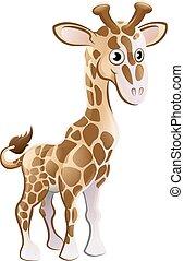 Giraffe Animal Cartoon Character - A cute giraffe animal...
