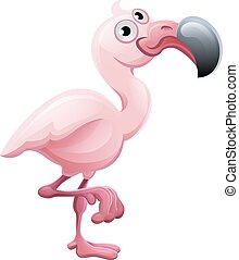 Flamingo Animal Cartoon Character