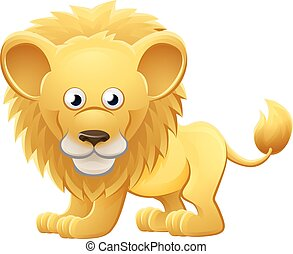 Lion Animal Cartoon Character