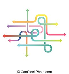 Arrows infographic vector abstract