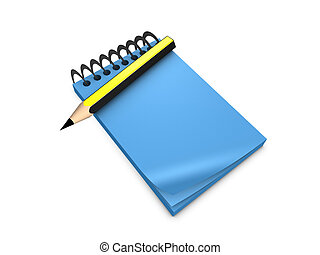 Note pad - 3d image, conceptual note pad