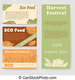 Harvest festival and eco food flyer and personal cards...