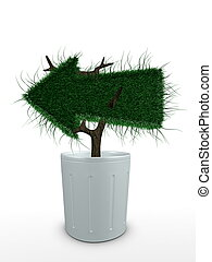 3d image, Conceptual bonsai arrow-left