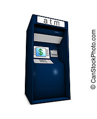 ATM - 3d image conceptual, fast banking