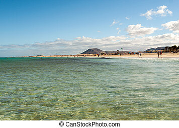 Corralejo Beach on Fuerteventura, Canary Islands, Spain