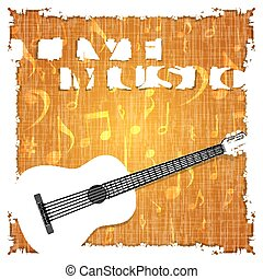 Live music musical background guitar and texture