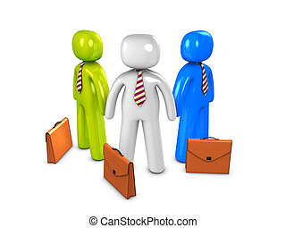 Salesman - 3d image, conceptual, salesman in group