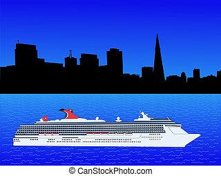 cruise ship at San Francisco