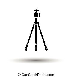 Icon of photo tripod White background with shadow design...