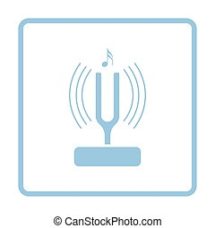 Tuning fork icon Blue frame design Vector illustration
