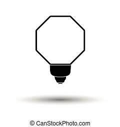 Icon of portable fashion flash. White background with shadow...