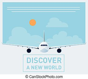 Travel brochure illustration - Tourism illustration template...