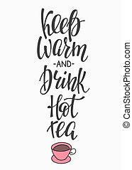 Quote Winter hot drink typography - Quote coffee cup...