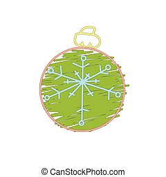 Christmas green ball