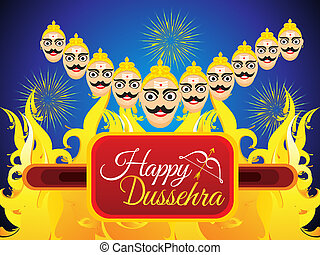 abstract dussehra background - abstract artistic dussehra...