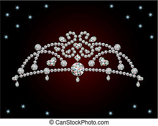 Tiara - This graphic is diamond tiara. Illustration vector.