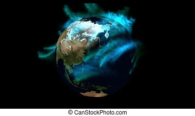 Digital Particle Animation of the Earth