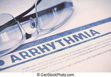 Arrhythmia. Medicine. 3D Illustration. - Arrhythmia -...