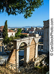 Ancient Agora in Athens,Greece - view of Ancient Agora in...