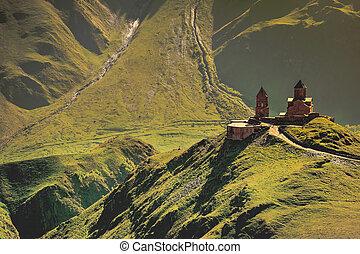 Mediaeval Church in mountains - Holy Trinity Church near...