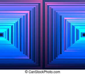 Vector bright luminescent background with squares, rhombus...