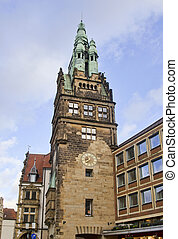 Historical tower in Munster, Germany - Historical tower and...