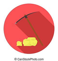 Pickaxe icon design. Singe western icon from the wild west...