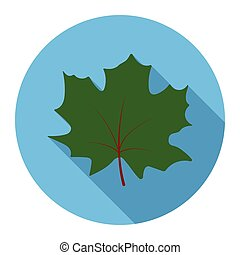 Maple Leaf vector icon in flat style for web - Maple Leaf...
