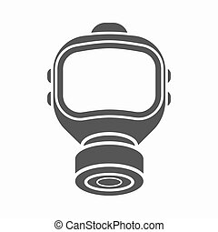 Fire gas mask icon black. Single silhouette fire equipment icon from the big fire Department simple.