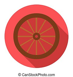 Cart-wheel icon design. Singe western icon from the wild...