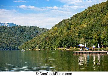 Levico Lake - Levico Terme Trentino Italy - Coast of Levico...