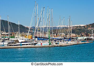 Harbor of La Spezia - Liguria Italy - Sail boats and yachts...