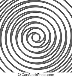 Double Spiral Background. Whirlpool. Optical Illusion. Vector