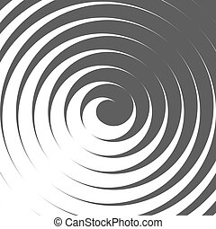 Abstract Spiral Background. Retro Style. Black And White. Vector