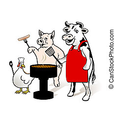 Animal Farm to have a barbecue