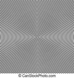 Hypnotic Spiral Abstract Background Retro Style Black And...