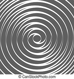 Double Spiral Background Whirlpool Optical Illusion Vector...