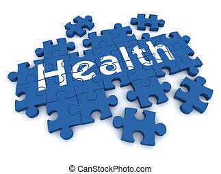 health puzzle concept  3d illustration